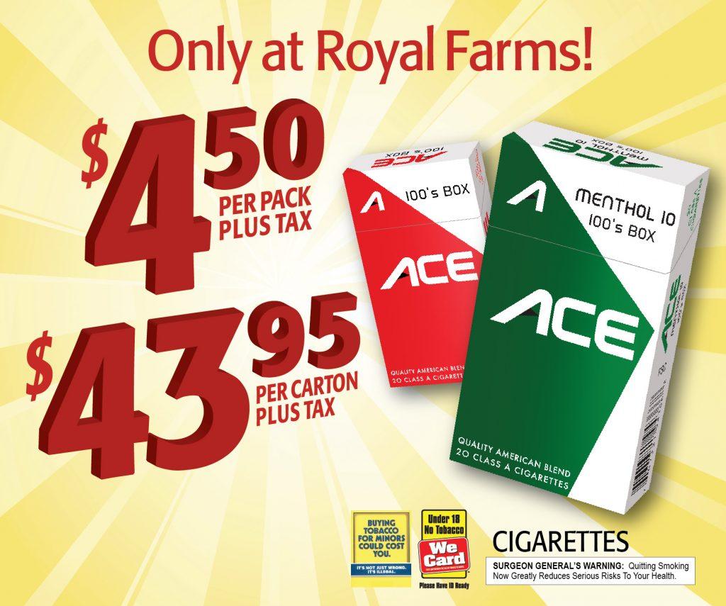 Royal Farm Ace PoS Saucer Advertising