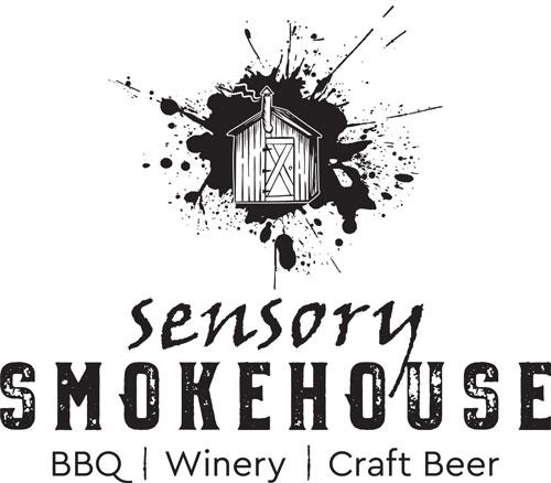 saucer advertising and marketing sensory smokehouse logo
